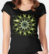 Green Mesh Women's Fitted Scoop T-Shirt