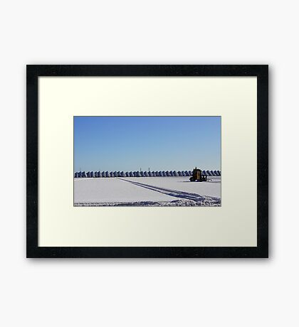 Salt Flats Framed Print