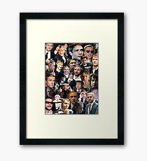 Martin Freeman Collage Framed Print