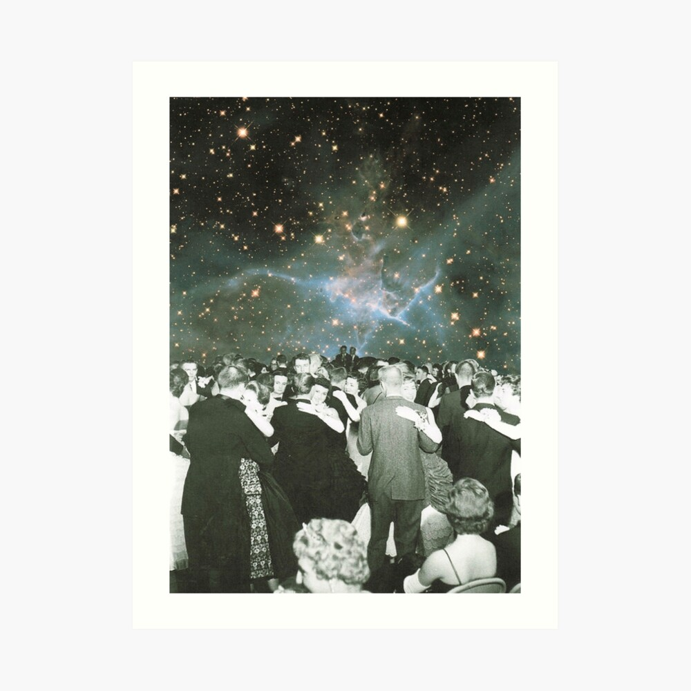 Dancing under the stars Art Print