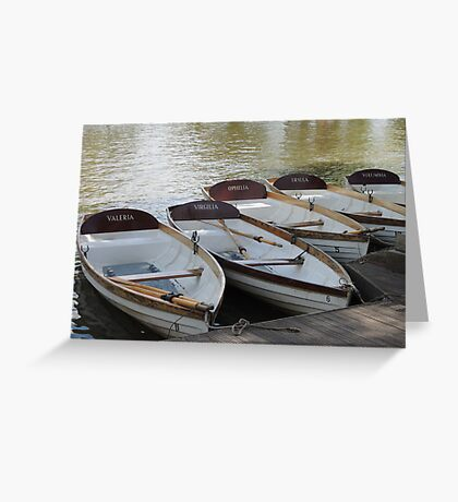 Stratford upon Avon boats Greeting Card