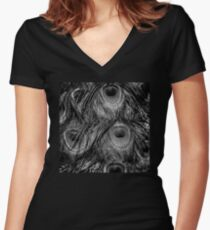 Night of the Peacock matching outfits for mom and her little one Women's Fitted V-Neck T-Shirt