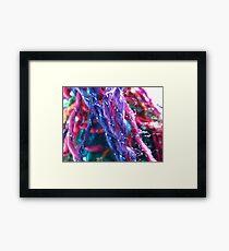 Rainbow & Metalic Yarn Framed Print