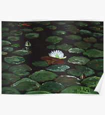 Lake of Lily Pads Poster