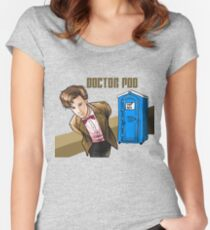 Doctor Poo Women's Fitted Scoop T-Shirt