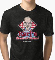 Karl's Biscuits 'N' Mustard Tri-blend T-Shirt