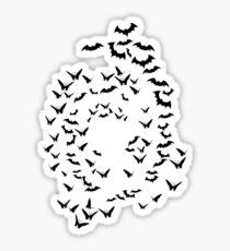 bats & butterflies  Sticker