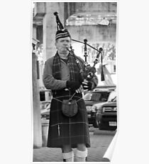 Bagpipe Concentration   Poster