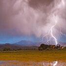 Lightning Striking Longs Peak Foothills 7C by Bo Insogna