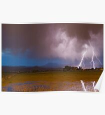 Lightning Striking Longs Peak Foothills 8 Poster