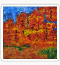 032 Abstract Landscape Sticker