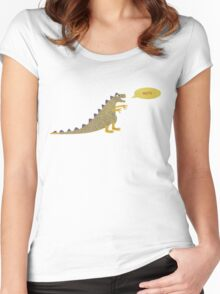 Not a very scary dinosaur Women's Fitted Scoop T-Shirt