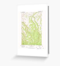 USGS Topo Map Washington State WA Rose Springs 243518 1967 24000 Greeting Card