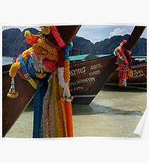 Long Tailed Boats Phuket Thailand Poster