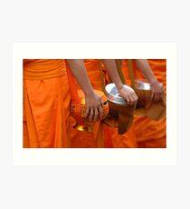 Buddhist Monks Luang Prabang Laos Art Print
