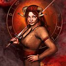 Aries from my Fantasy Zodiac Circle von Britta Glodde