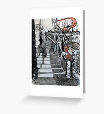 Stairs to Flinders Street (Ascending) Greeting Card