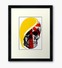 Blond skull! Framed Print