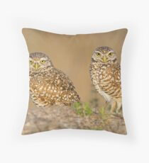 Owl Couple Throw Pillow