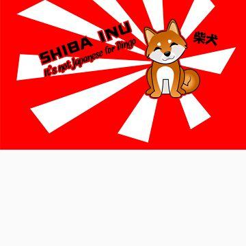 "Shiba Inu: ""It's not Japanese for Dingo"" - Sticker by steenium"