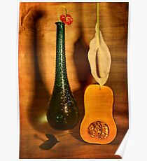 Still life with butternut squash Poster