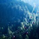 Cable Cars in The Mountains by melmoth