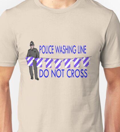 police washing line do not cross  T-Shirt