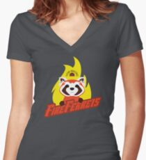 Future Industries Fire Ferrets Women's Fitted V-Neck T-Shirt