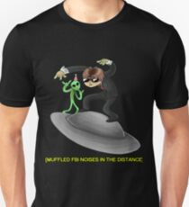 muffled fbi noises in hte distance T-Shirt