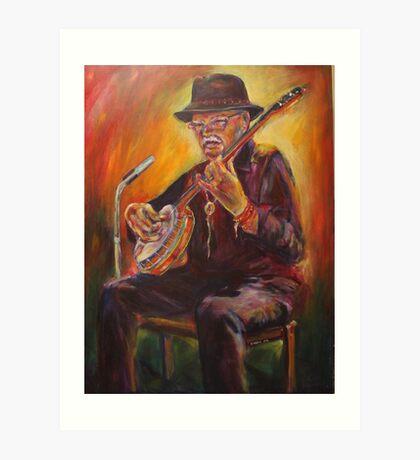 Banjo Busker Art Print