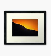 Ridgeline Sunset Framed Print