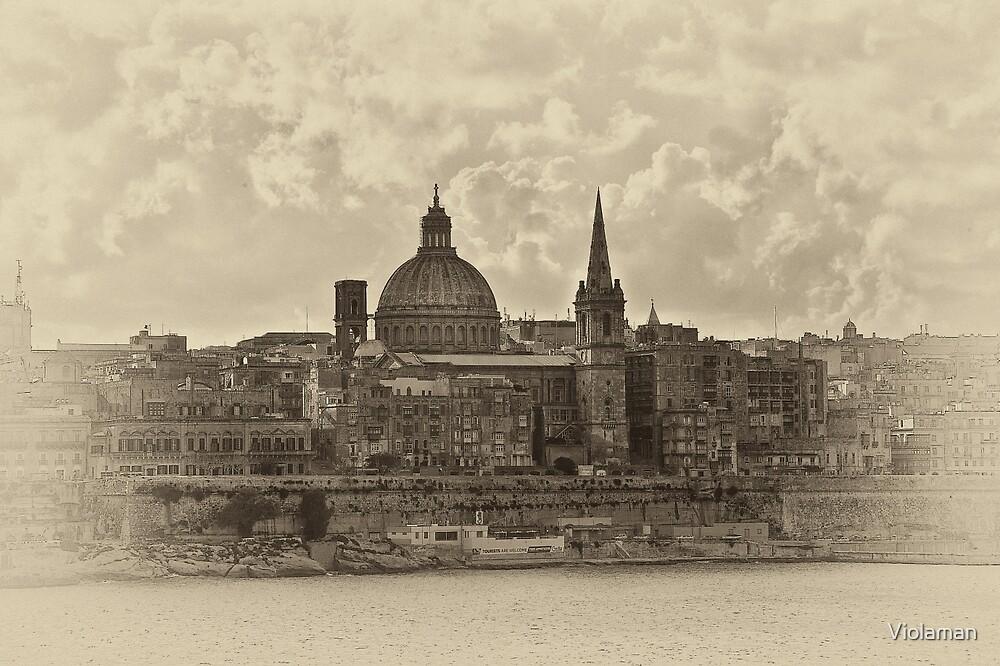 Valletta, Malta antiqued by Violaman