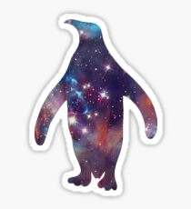 galaxy penguin Sticker