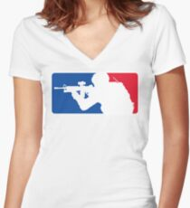 Major League Infantry Women's Fitted V-Neck T-Shirt