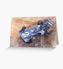 Tyrrell Ford 007 Jody Scheckter 1974 Swedish GP Greeting Card