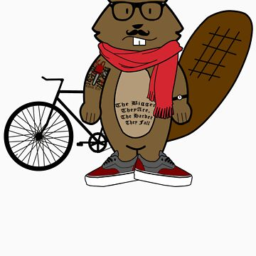 Hipster Beaver by jmoore1990