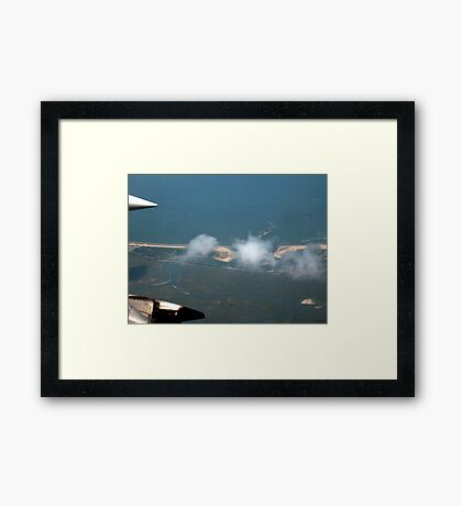 Cotton Ball Puffs of Clouds over the Jersey Shore Framed Print