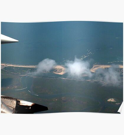 Cotton Ball Puffs of Clouds over the Jersey Shore Poster