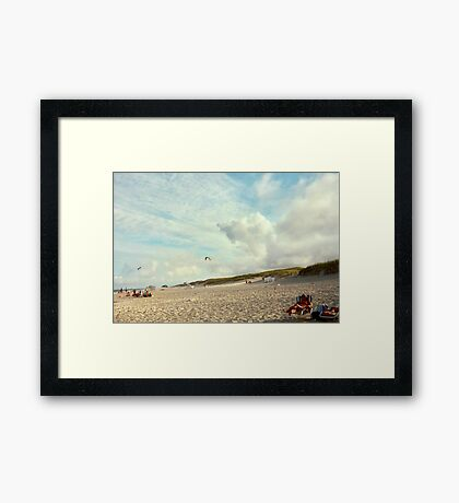 Clouds So Low They Almost Touch The Beach, Island Beach NJ Framed Print