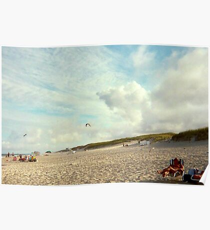 Clouds So Low They Almost Touch The Beach, Island Beach NJ Poster