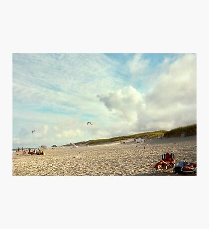 Clouds So Low They Almost Touch The Beach, Island Beach NJ Photographic Print