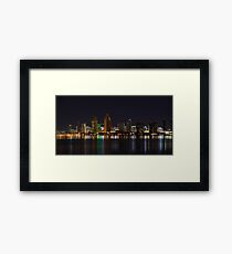City Lights San Diego Skyline Framed Print
