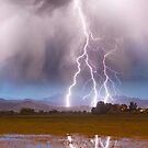 Lightning Striking Longs Peak Foothills 6C  by Bo Insogna