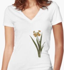 Wild Jonquil Women's Fitted V-Neck T-Shirt