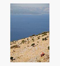 car beach adriatic Photographic Print