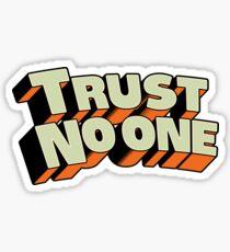 Pegatina No confíes en nadie