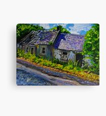 """""""Ruined Cottages, Roadside, Castlelough, County Tipperary."""" Canvas Print"""