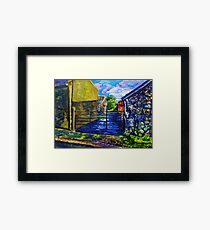 "Farm Buildings on the Carneal Road, Gleno, County Antrim."" Framed Print"