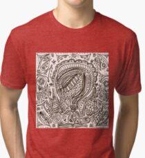 Cute cartoon doodle hipster pattern. Tri-blend T-Shirt