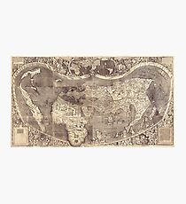 Universalis Cosmographia Secundum World Map by Martin Waldseemuller (1507) Photographic Print